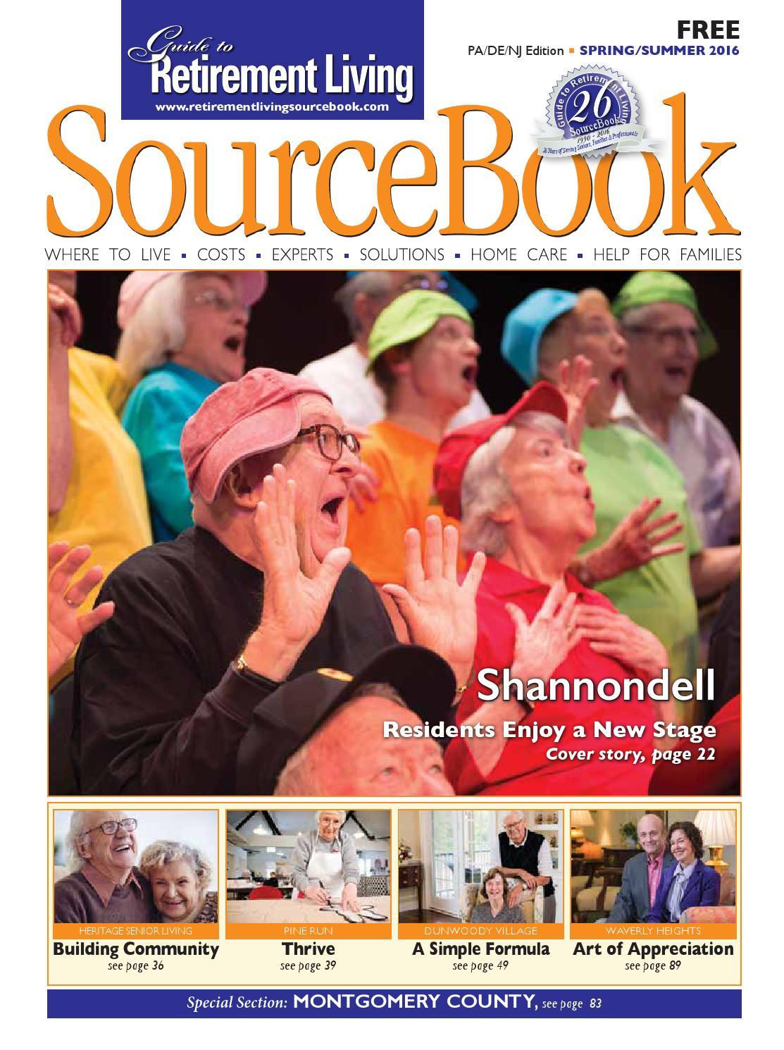 Grlsourcebook paspring2016Guide to Retirement Living SourceBook Delaware  Valley Issue Spring 2016 by Retirement Living Sourcebook - issuu