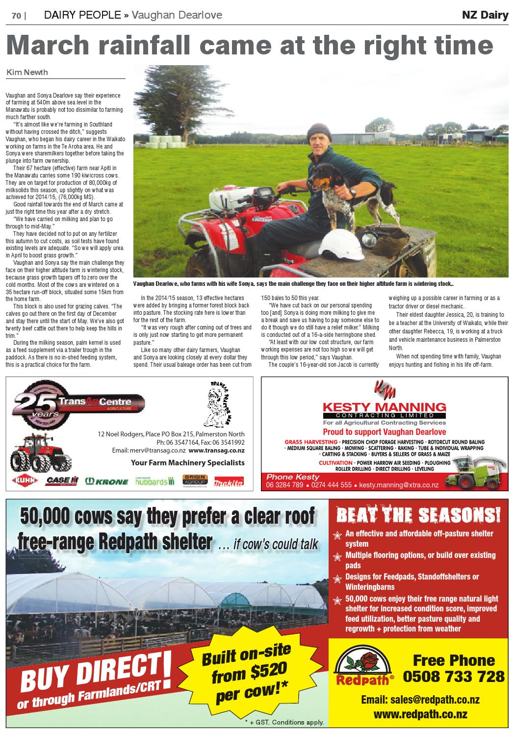 Nz dairy 2016 Autumn Issue by Waterford Press Limited - issuu