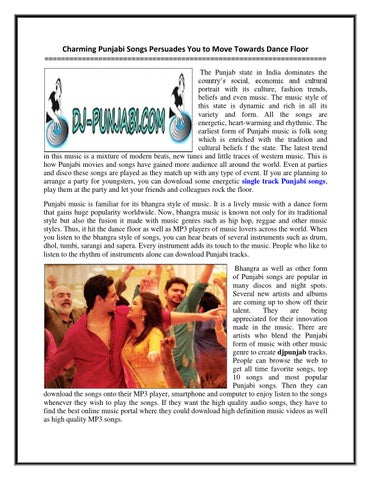 Charming punjabi songs persuades you to move towards dance