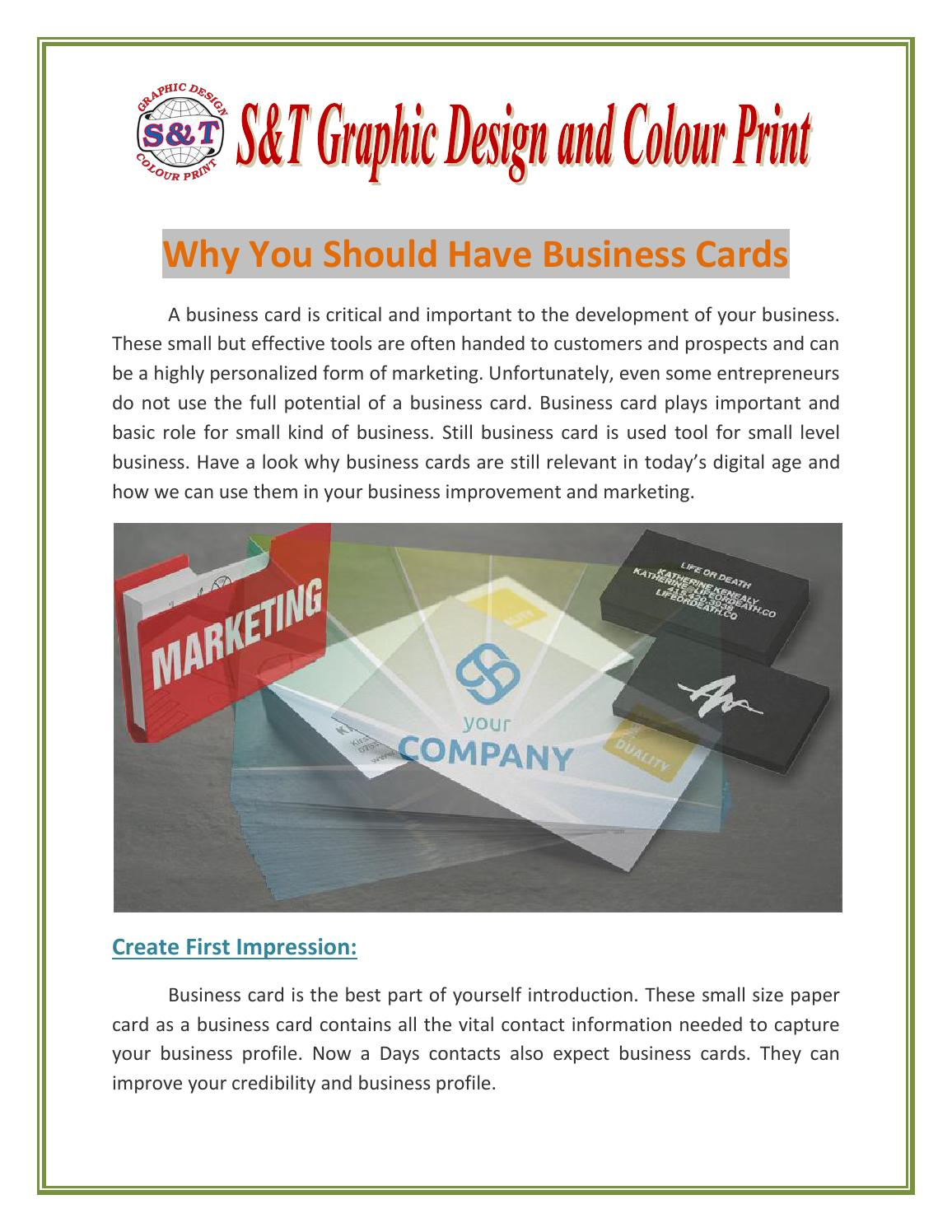 Why you should have business cards by shern nguyen issuu colourmoves