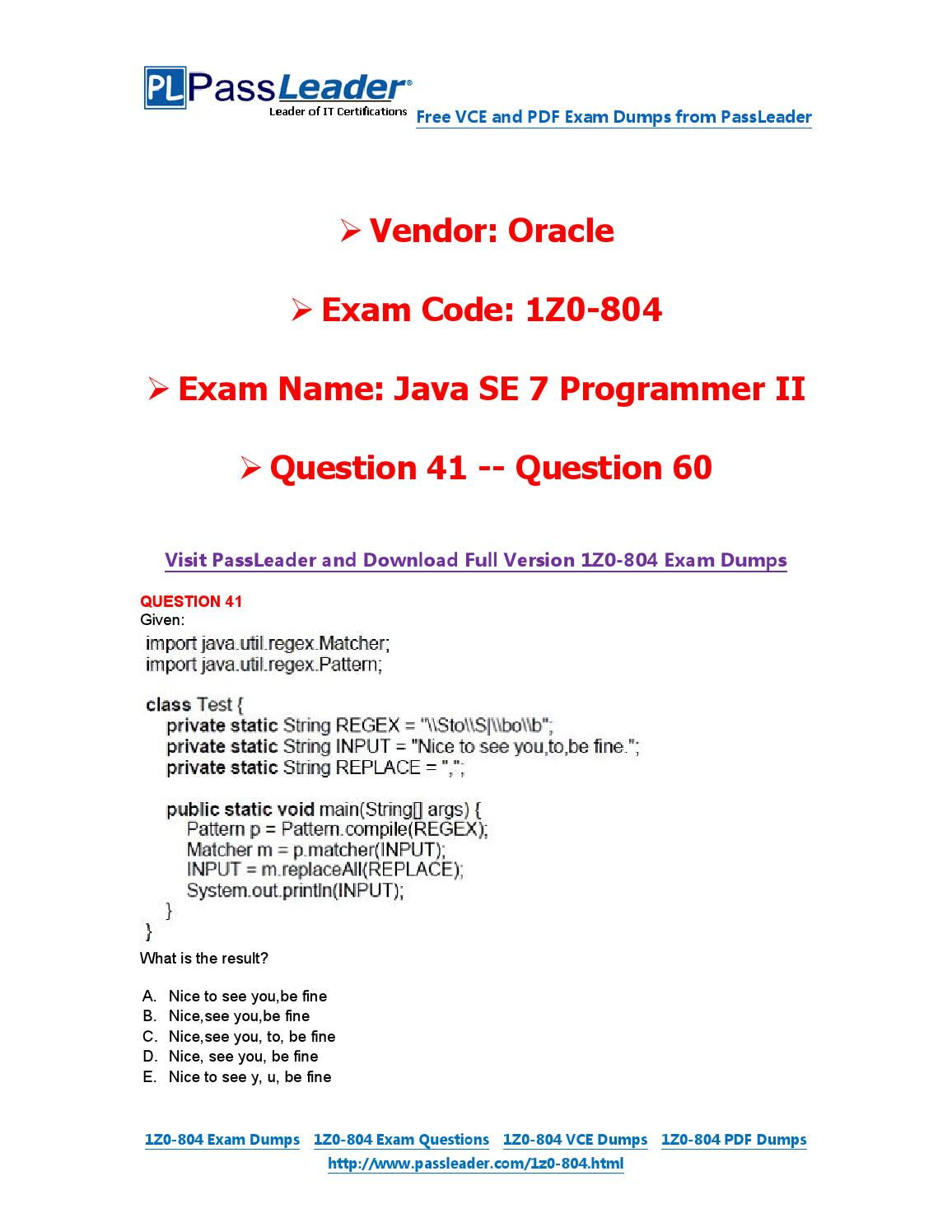 2016 new 1z0 804 exam dumps for free vce and pdf 41 60 by exam 2016 new 1z0 804 exam dumps for free vce and pdf 41 60 by exam dumps issuu baditri Images