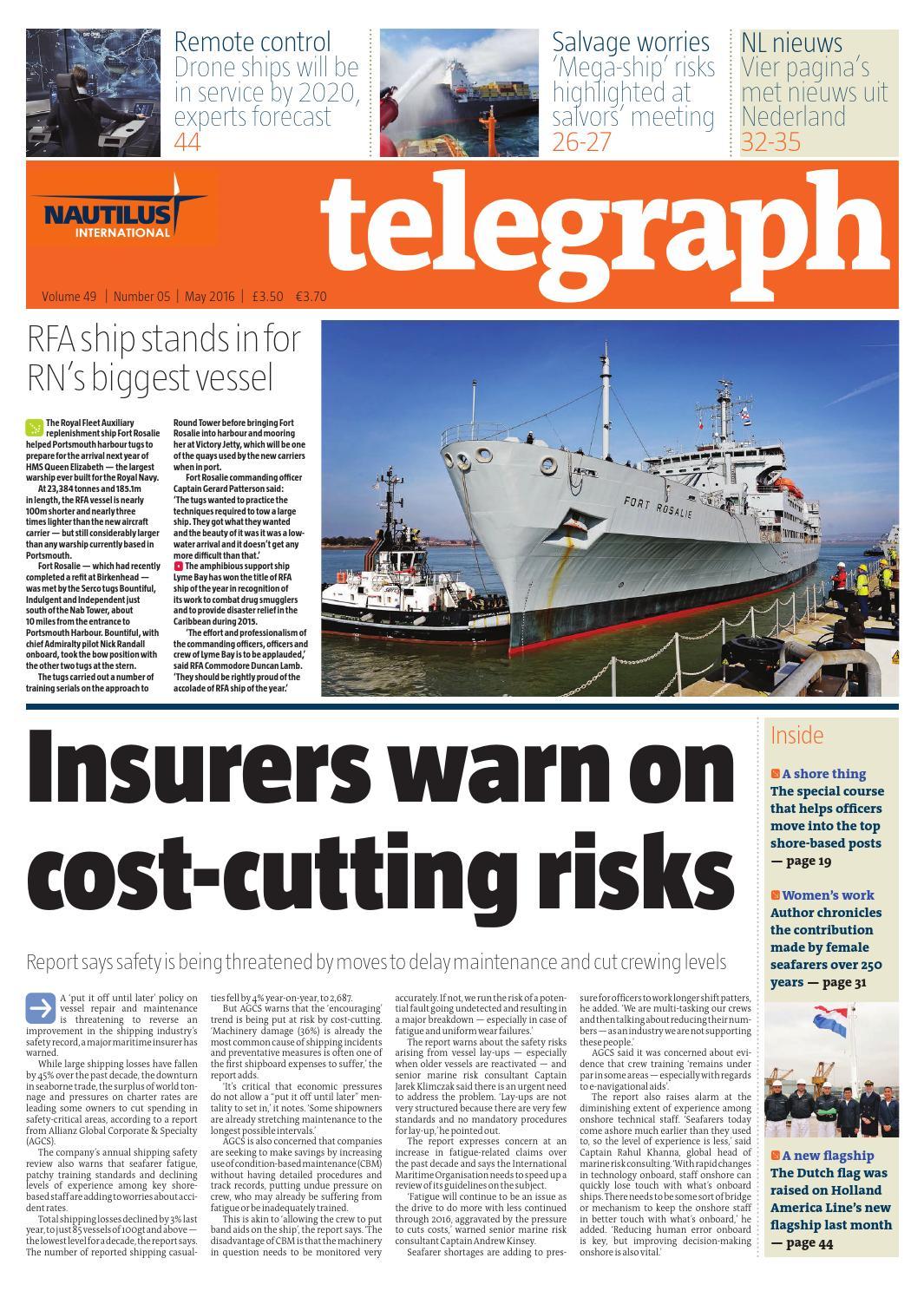 Nautilus Telegraph May 2016 by Redactive Media Group - issuu