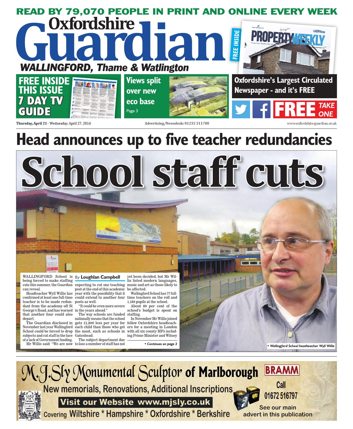 21 april 2016 oxfordshire guardian wallingford by Taylor Newspapers - issuu