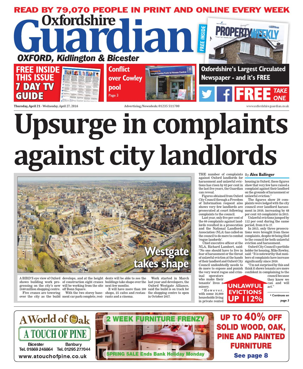 21 april 2016 oxfordshire guardian city by Taylor Newspapers - issuu