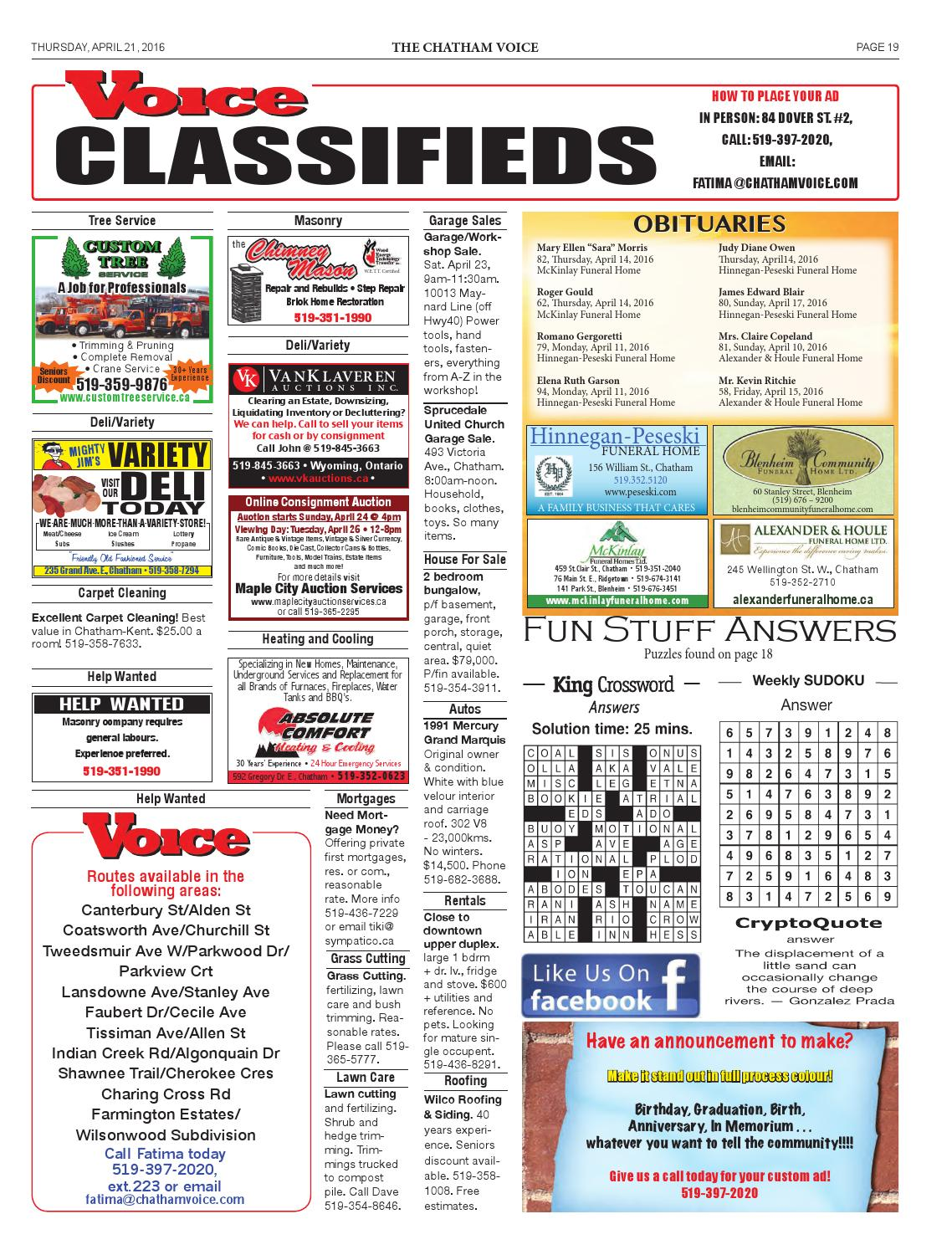 The Chatham Voice, April 21, 2016 by Chatham Voice - issuu