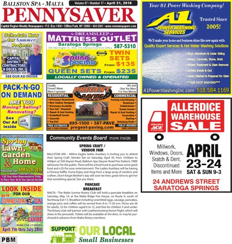 Ballston Spa Malta Pennysaver 042116 by Capital Region Weekly