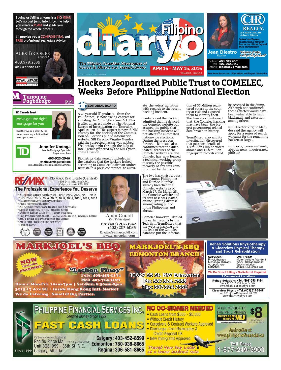 Diaryo Filipino April 2016 by Diaryo Filipino - issuu