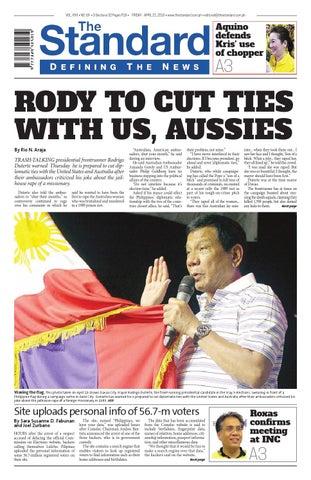The Standard 20160422 Friday By Manila Standard Issuu