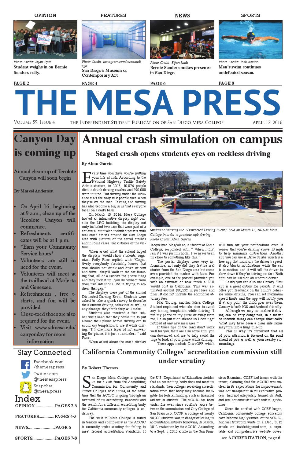 The Mesa Press Spring 2016 Issue 4 by The Mesa Press - issuu