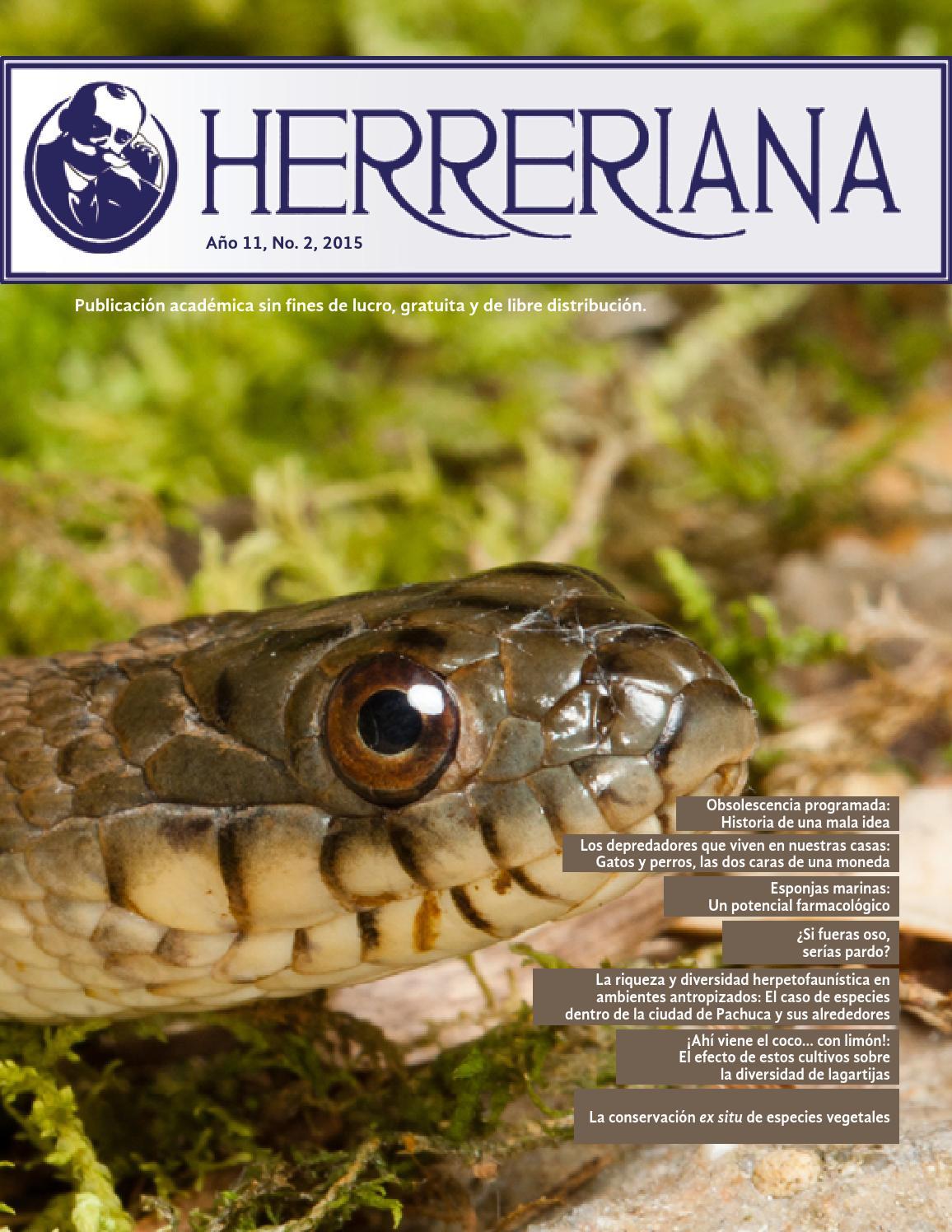 Herreriana Vol 11 No 2 2015 By Herreriana Revista De  # Muebles Badillo Montiel