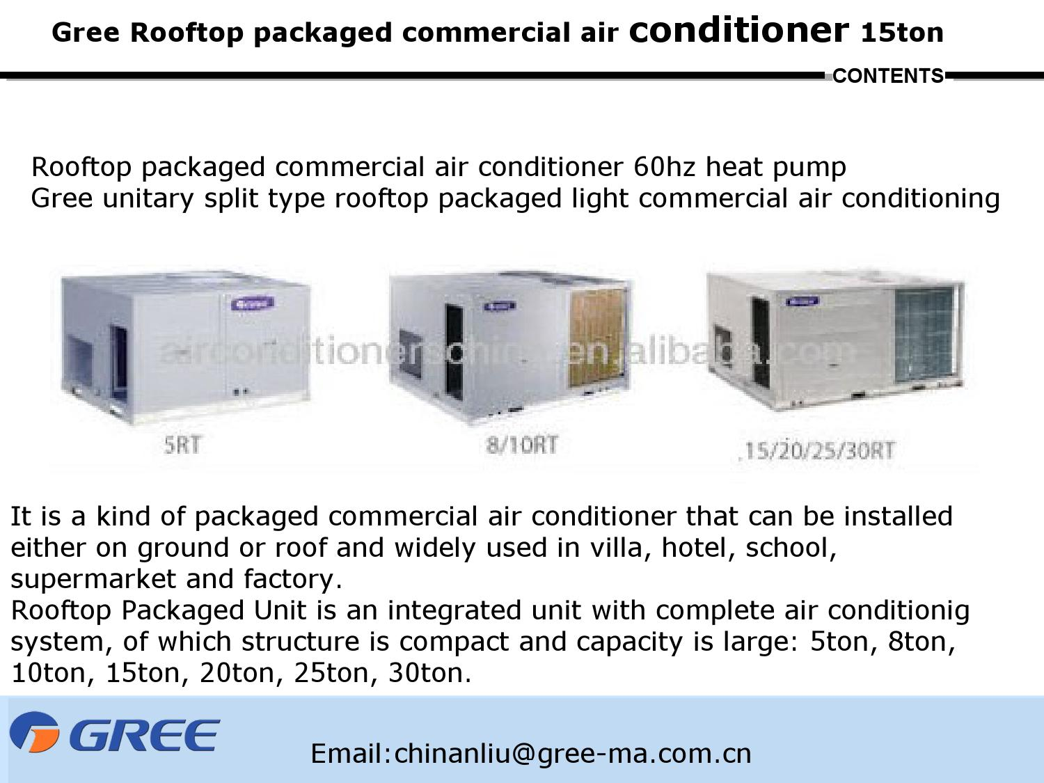 gree rooftop packaged commercial air conditioner