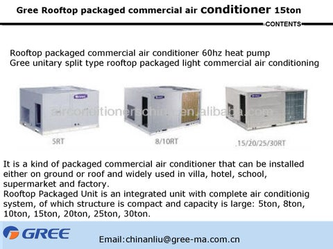 Gree rooftop packaged commercial air conditioner by Gree - issuu