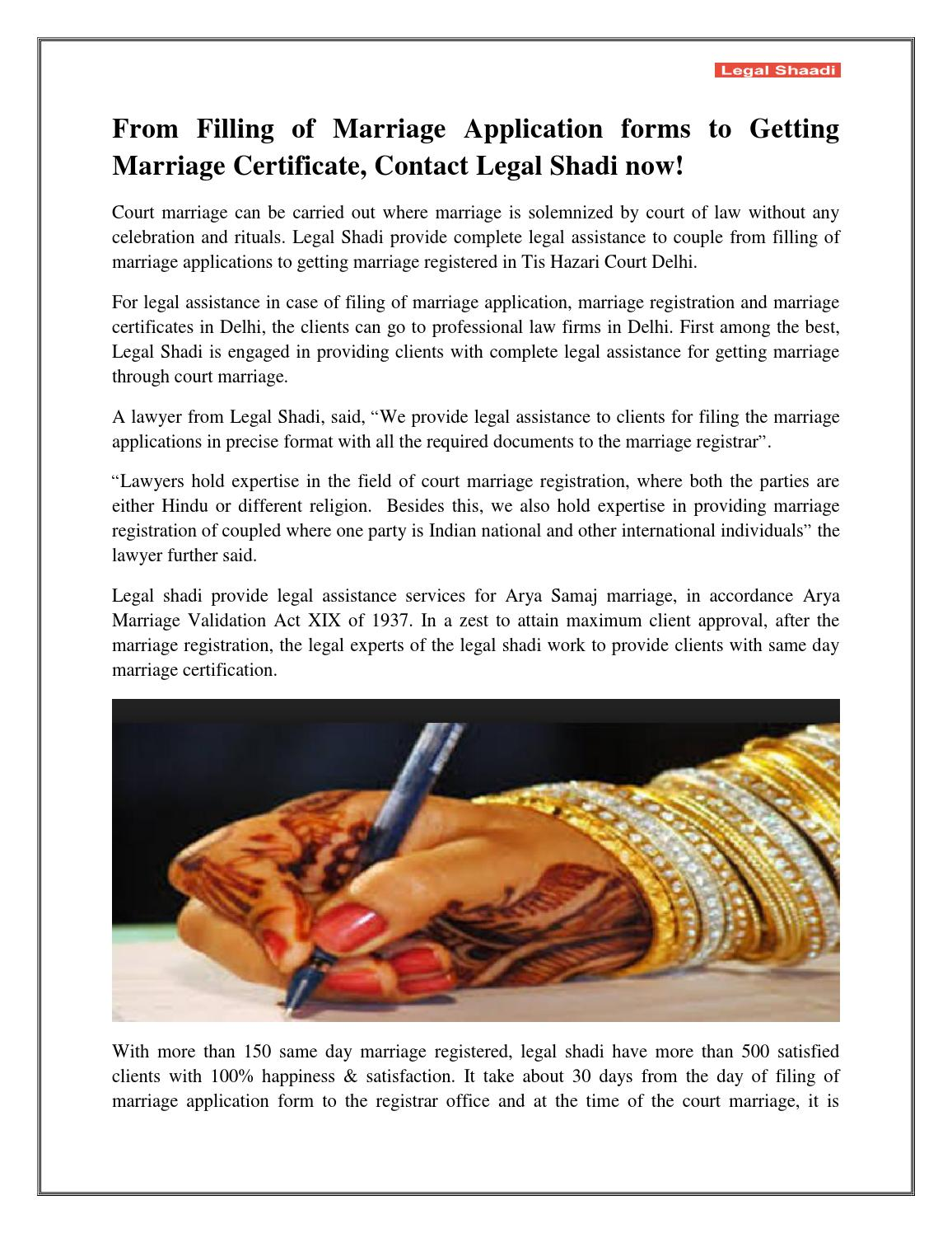 From filling of marriage application forms to getting marriage from filling of marriage application forms to getting marriage certificate contact legal shadi now by legalshaadi issuu xflitez Choice Image