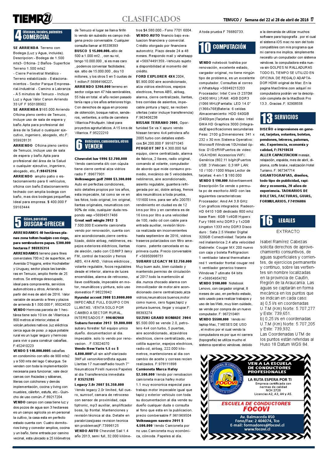 Edici N 384 El D A Despu S Que Temuco Llor By Tiempo21 Araucan A  # Muebles Jouannet Temuco