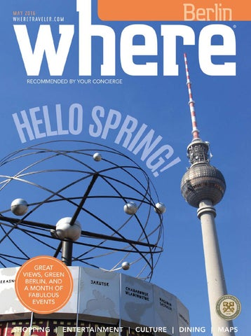 Where Magazin Mai 2016 by Where Berlin DINAMIX Media GmbH