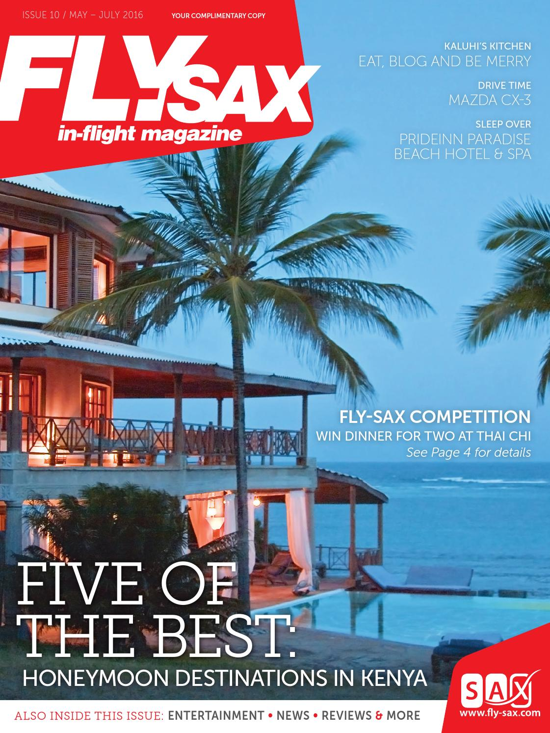 Fly-SAX Inflight Magazine – Issue 10, May 2016 by Land & Marine ...