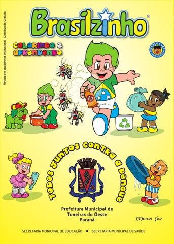 Gibi Brasilzinho Todos Juntos Contra A Dengue Para Colorir By