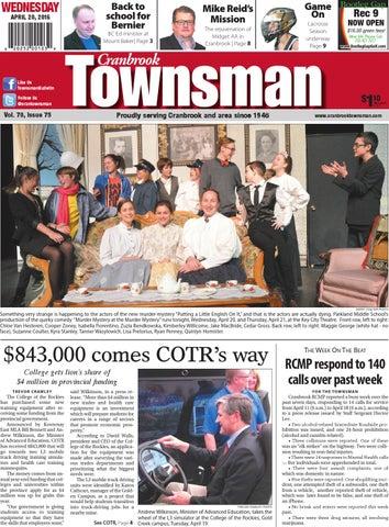 Cranbrook Daily Townsman April 20 2016 By Black Press Issuu