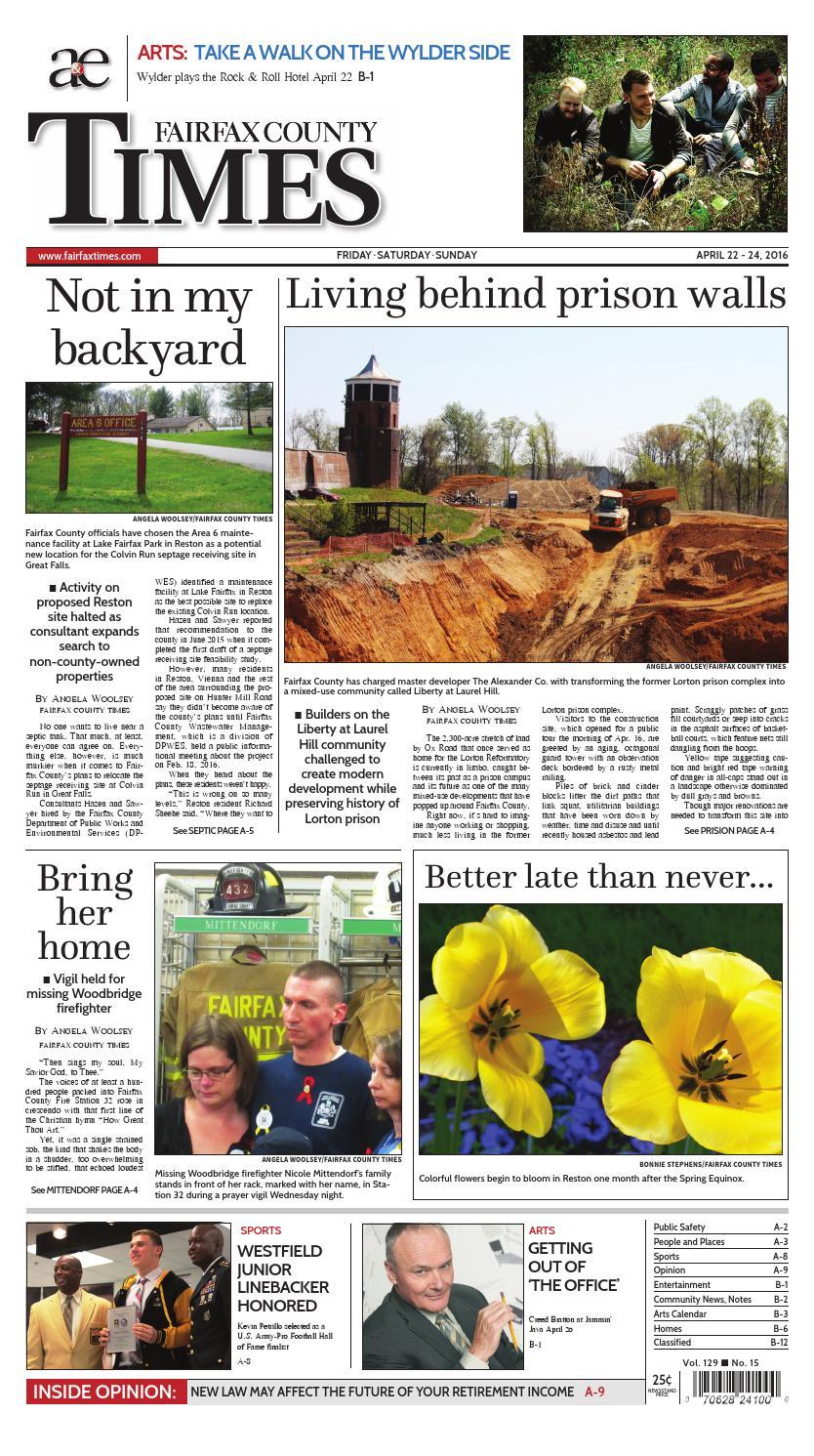 Fairfax County Times 04/22/16 by The Fairfax Times - Issuu