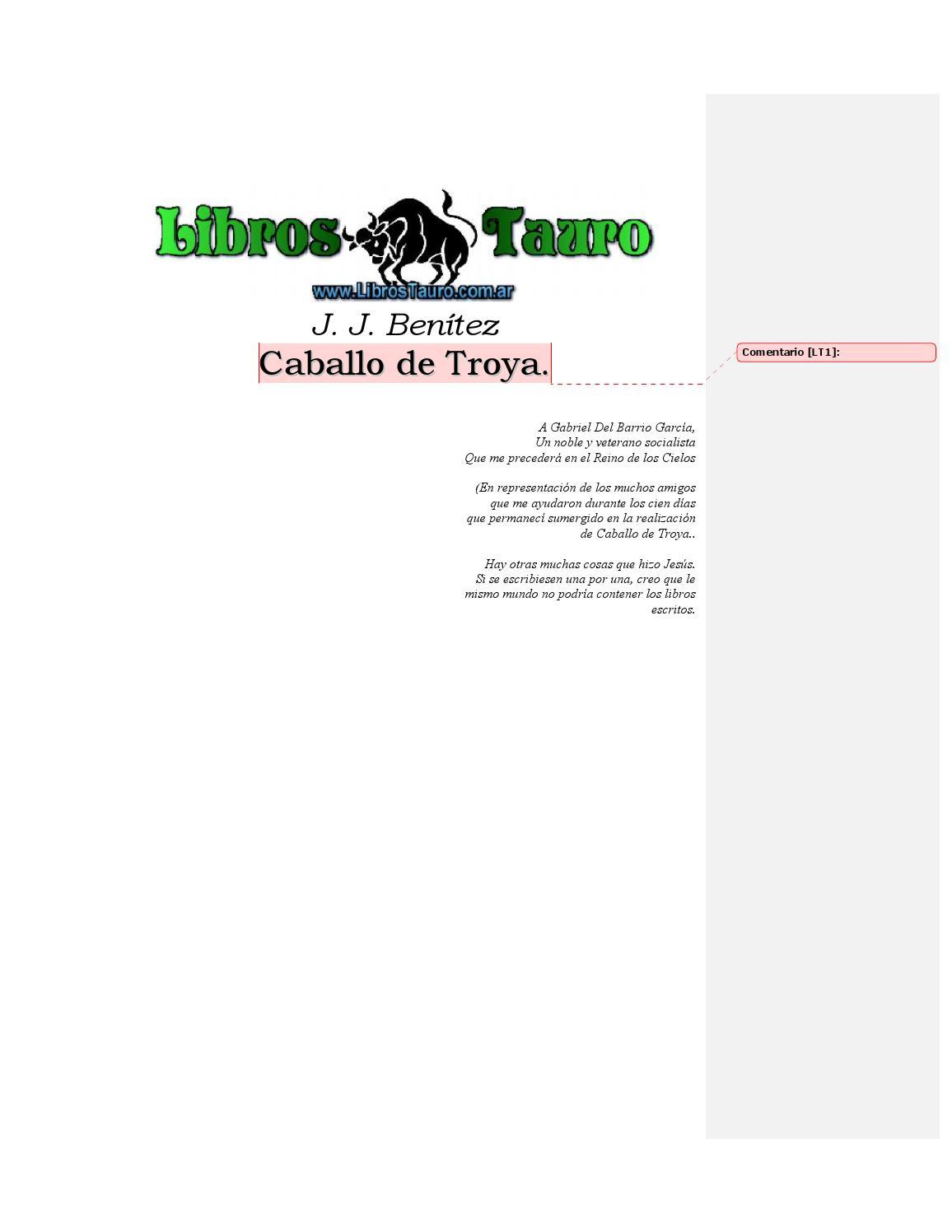 Caballo de Troya - J. J. Benitez. by Orlando Alvarez - issuu