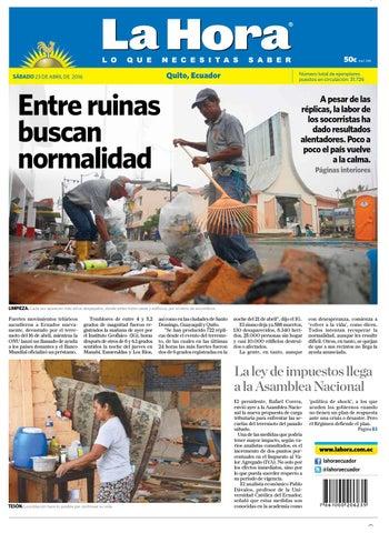 Quito 23 de abril de 2016 by Diario La Hora Ecuador - issuu