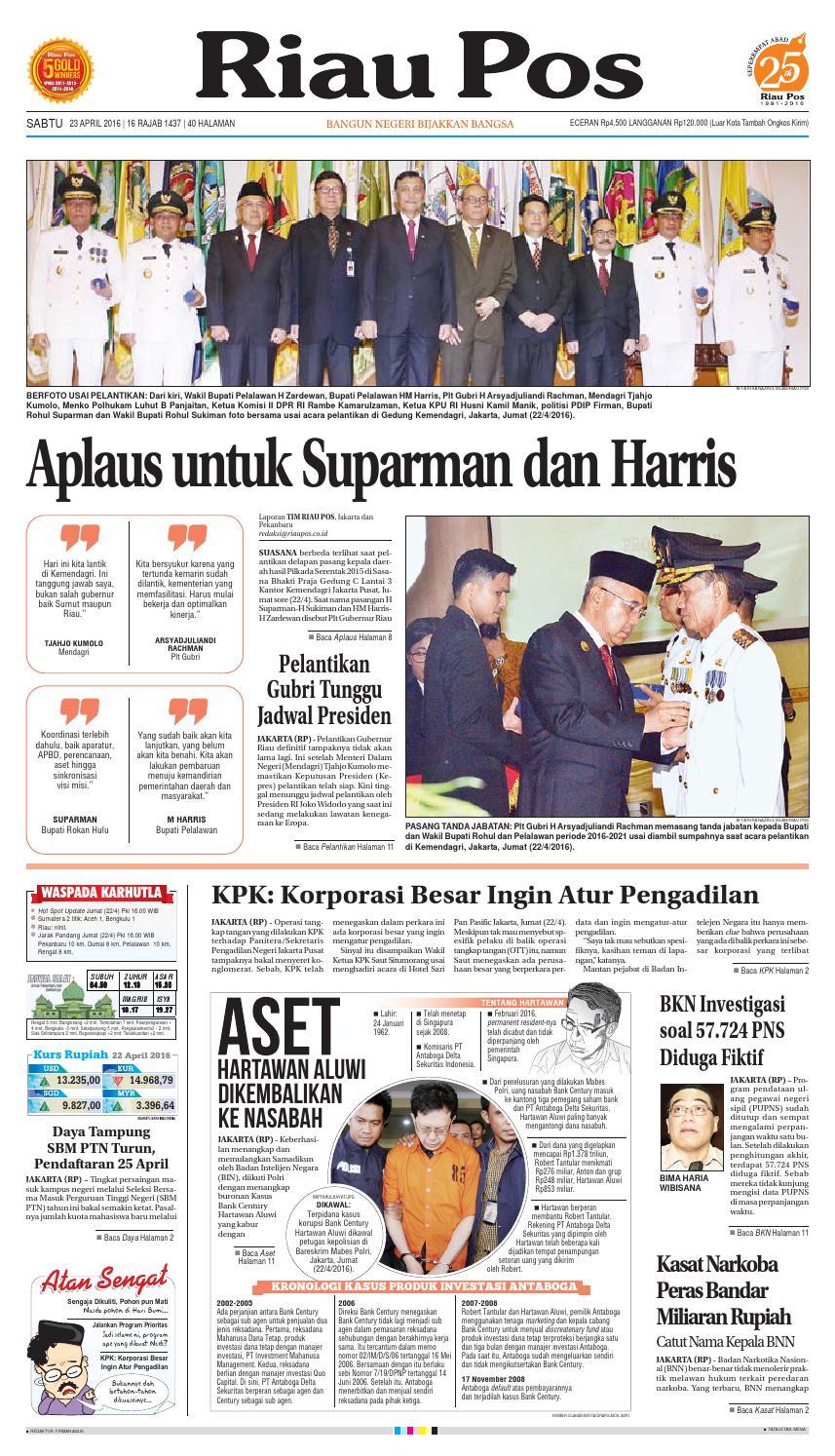 2016 04 23 By Riau Pos Issuu Produk Ukm Bumn Ring Berlian Eropa