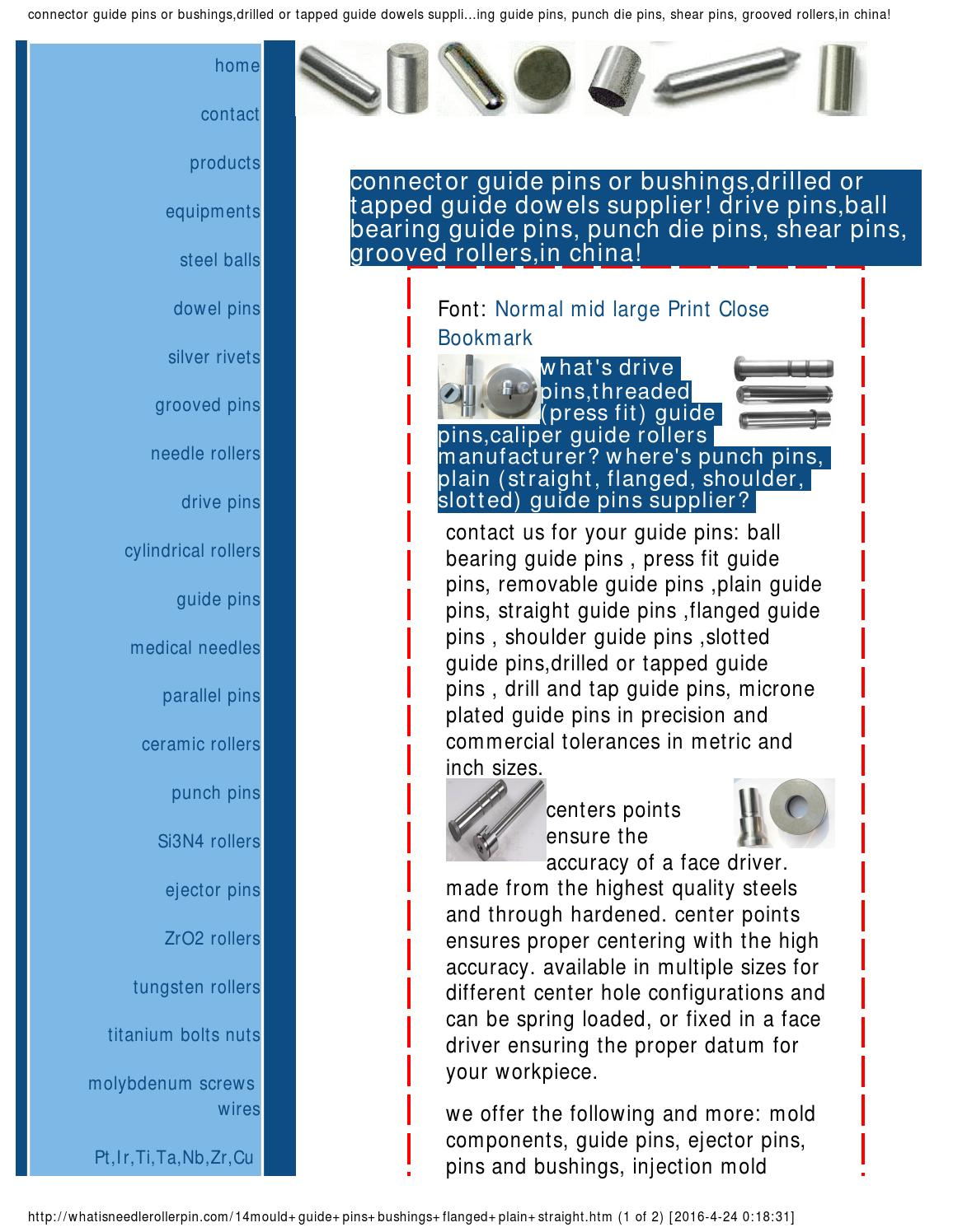 Drive pins,threaded(press fit) guide by pinstech - issuu
