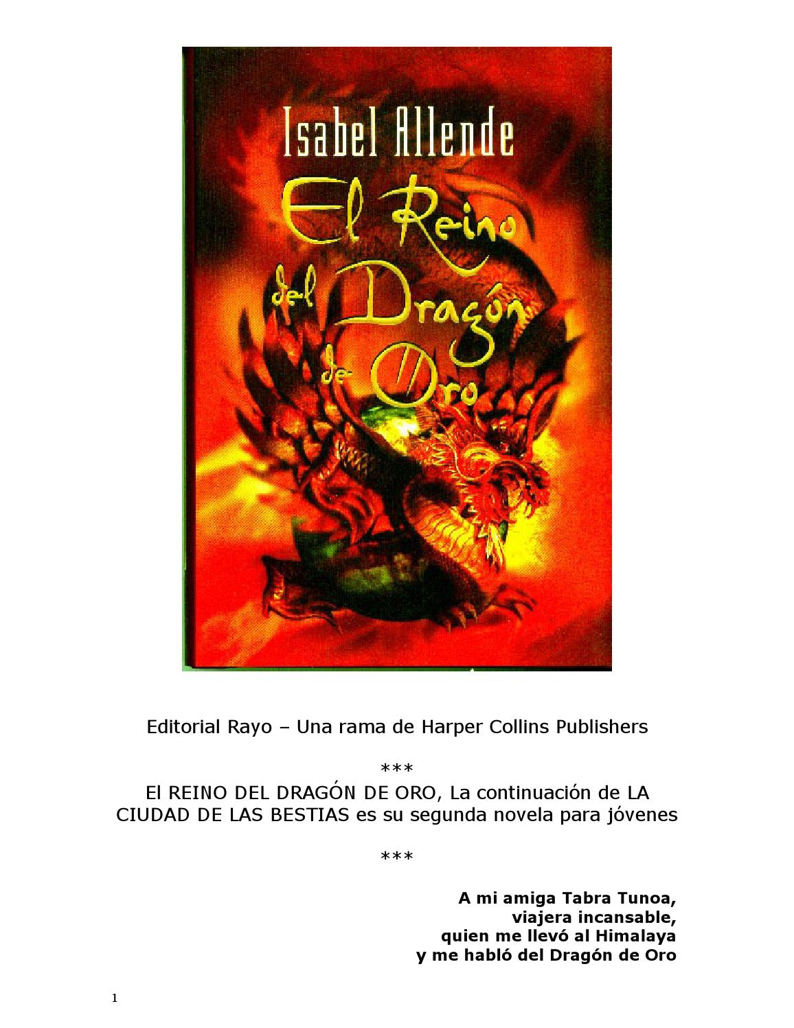 Allende%2c isabel el reino del dragon de oro by Carlos cardenas - issuu