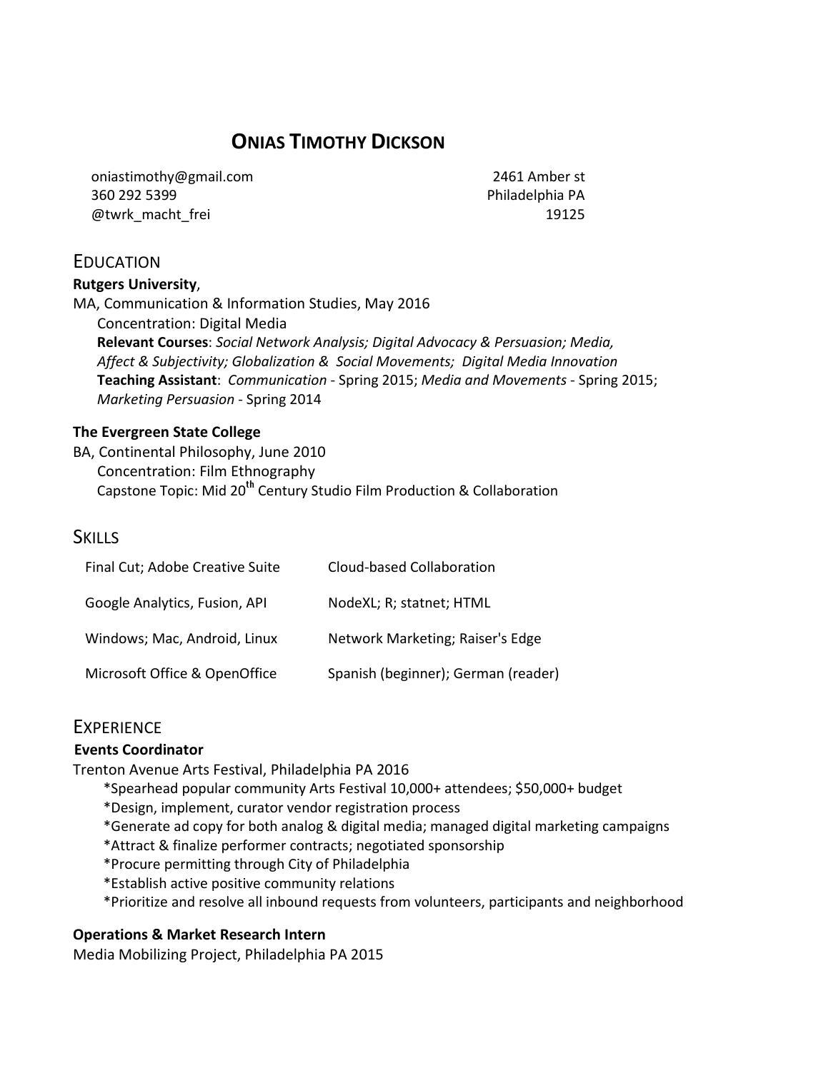 Dicksono resume by Onias Dickson - issuu
