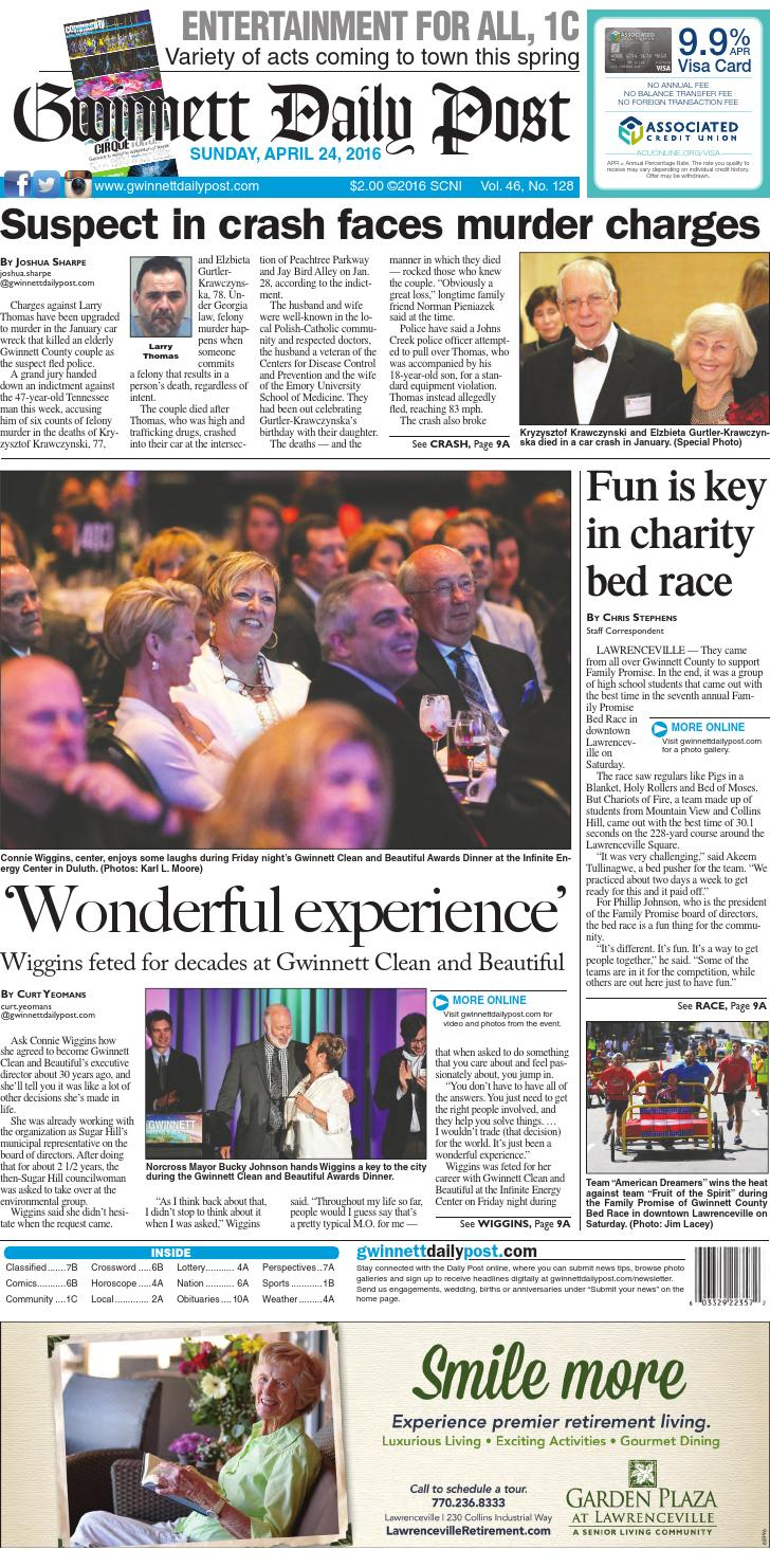 April 24, 2016 — Gwinnett Daily Post by Gwinnett Daily Post - issuu