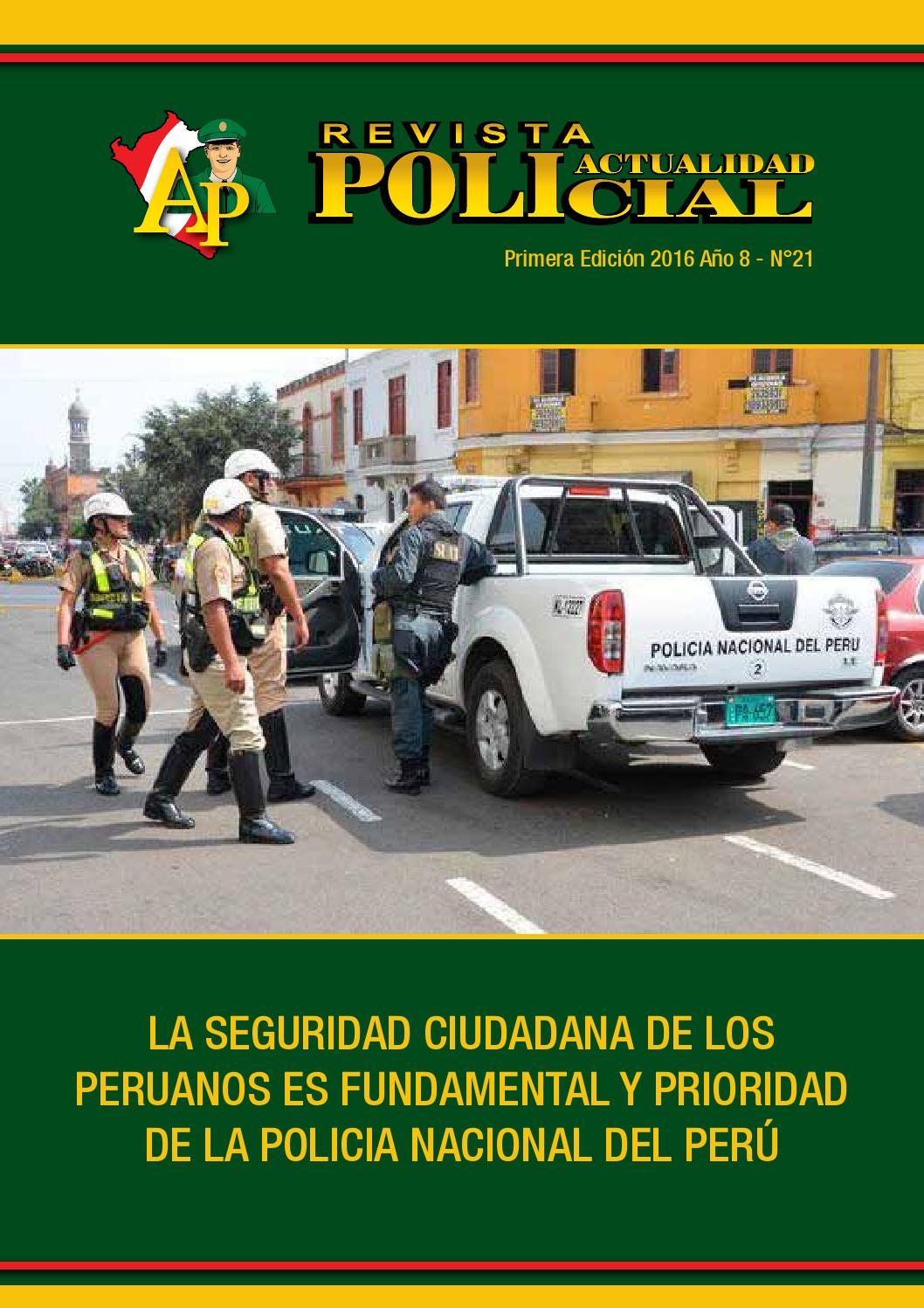 Revista actualidad policial 2016 1ra edici n by for Logo del ministerio del interior peru