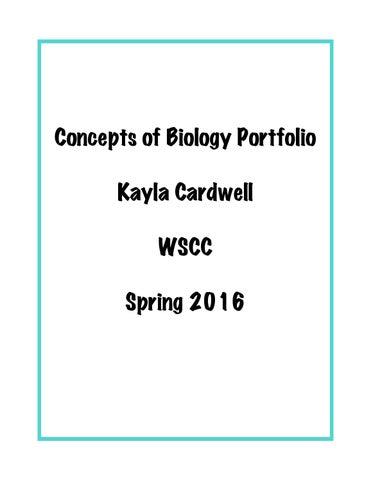 Kayla Biology By Kaylajo123 Issuu