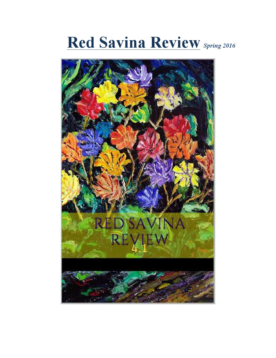 Red Savina Review Issue 4.1 by Red Savina Review - issuu on