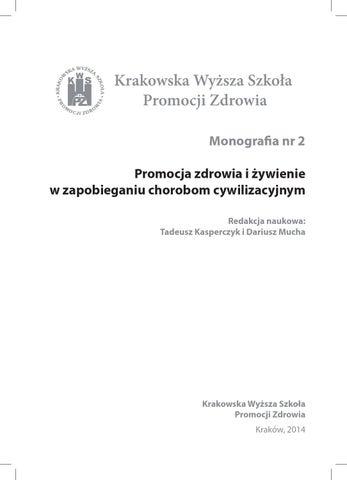 Promocja Zdrowia I Zywienie W Zapobieganiu Chorobom Cywilizacyjnym