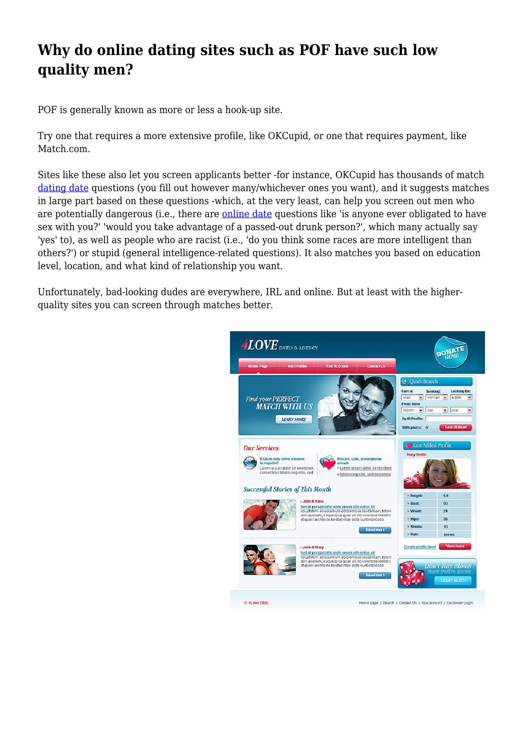 POF dating sites