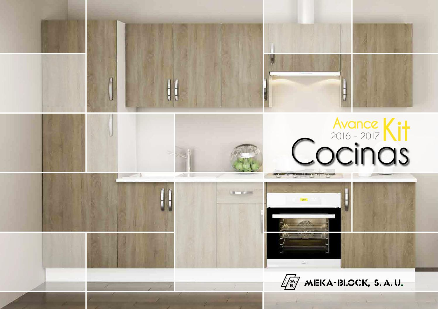 Avance catalogo cocinas 2016 2017 de meka block by meka for Catalogo de cocinas