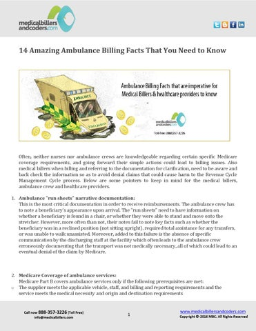 14 amazing ambulance billing facts that you need to know