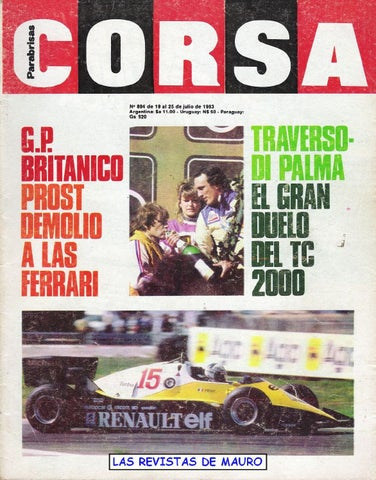 Corsa 894 19 25 julio 1983 by Luis Edgardo Vitale - issuu