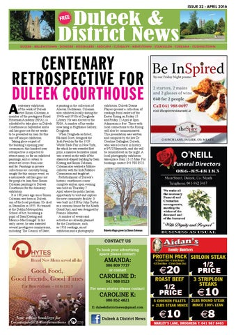 April 2016 duleek district news issue 32 by duleek district news page 1 malvernweather Images