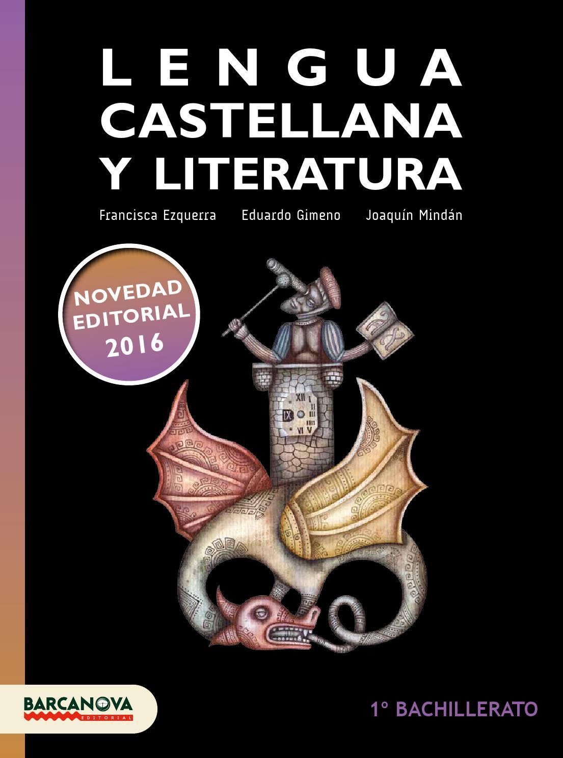 LENGUA CASTELLANA Y LITERATURA. 1º Bachillerato by