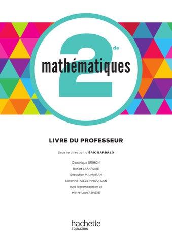 Livre Du Professeur Math 2nd By Hightschool Issuu