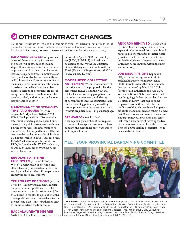 BCNU Update Magazine May 2016 by BC Nurses' Union - issuu
