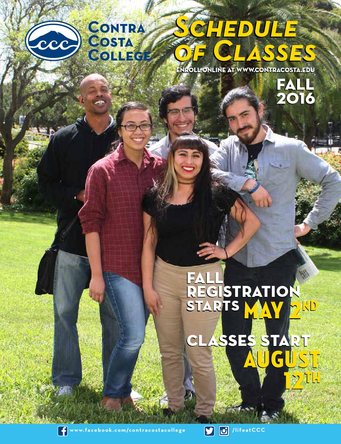 Contra Costa College Fall 2016 Schedule of Classes online by Contra ...