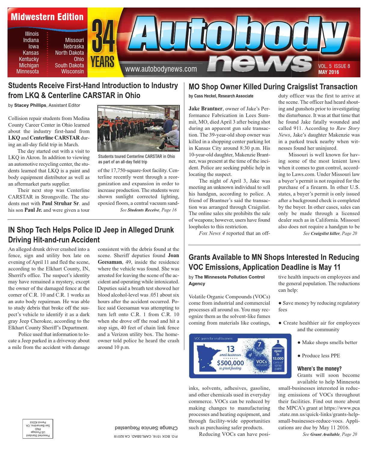 Midwestern May 2016 Issue by Autobody News - issuu