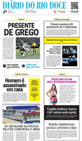 3f10bb5ba3f Diário do Rio Doce - Edição de 26 04 2016 by Diário do Rio Doce - issuu