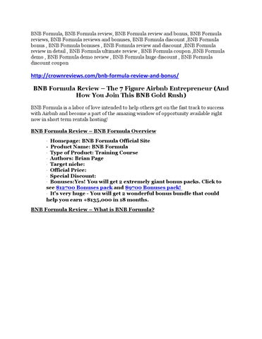 TRUST review of BNB Formula and $14000 Bonuses by vakikuye - issuu