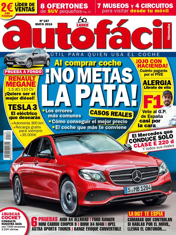 Autofácil Nº 187. mayo 2016 by LIDER - issuu