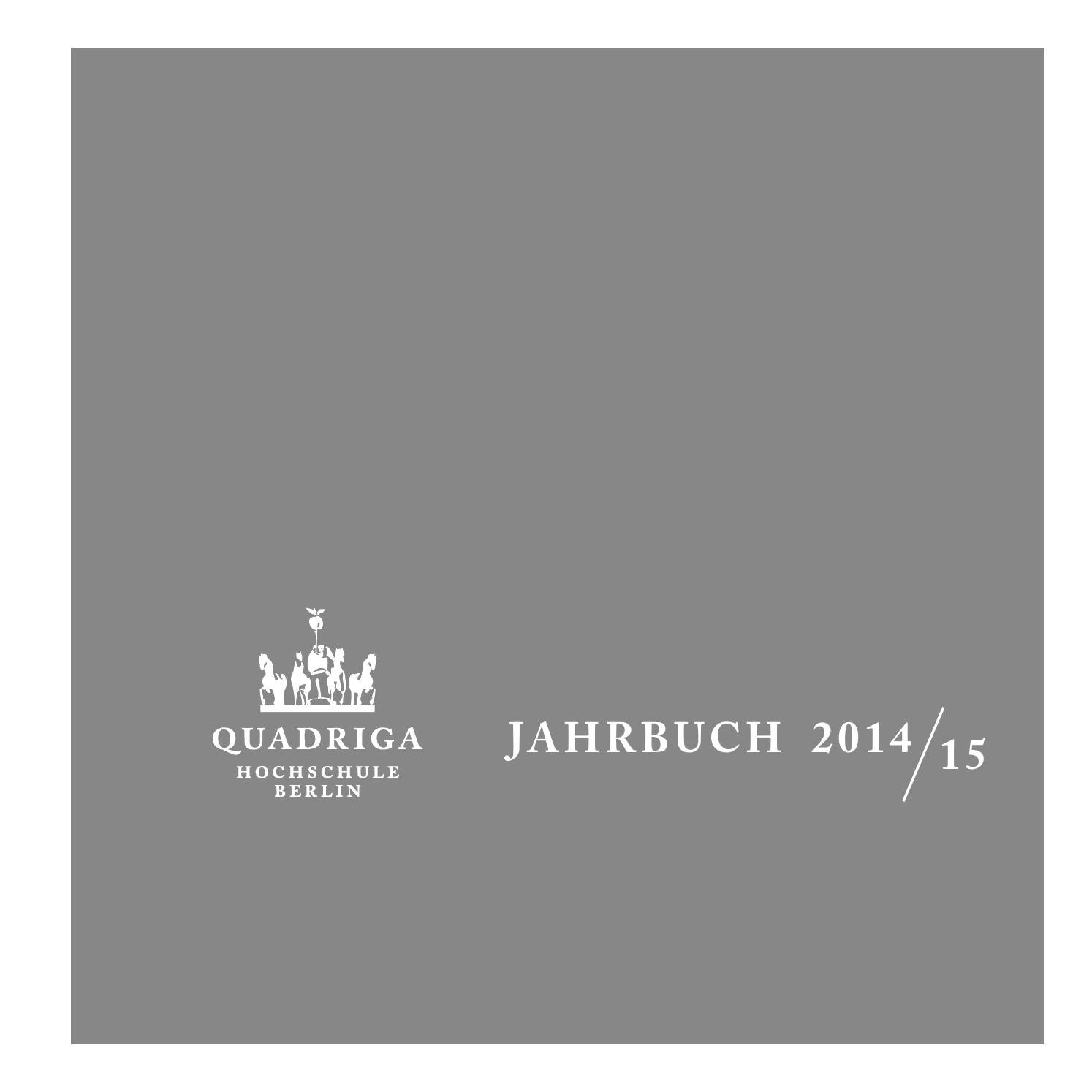 Quadriga Jahrbuch 2014/2015 by Quadriga Media Berlin GmbH - issuu