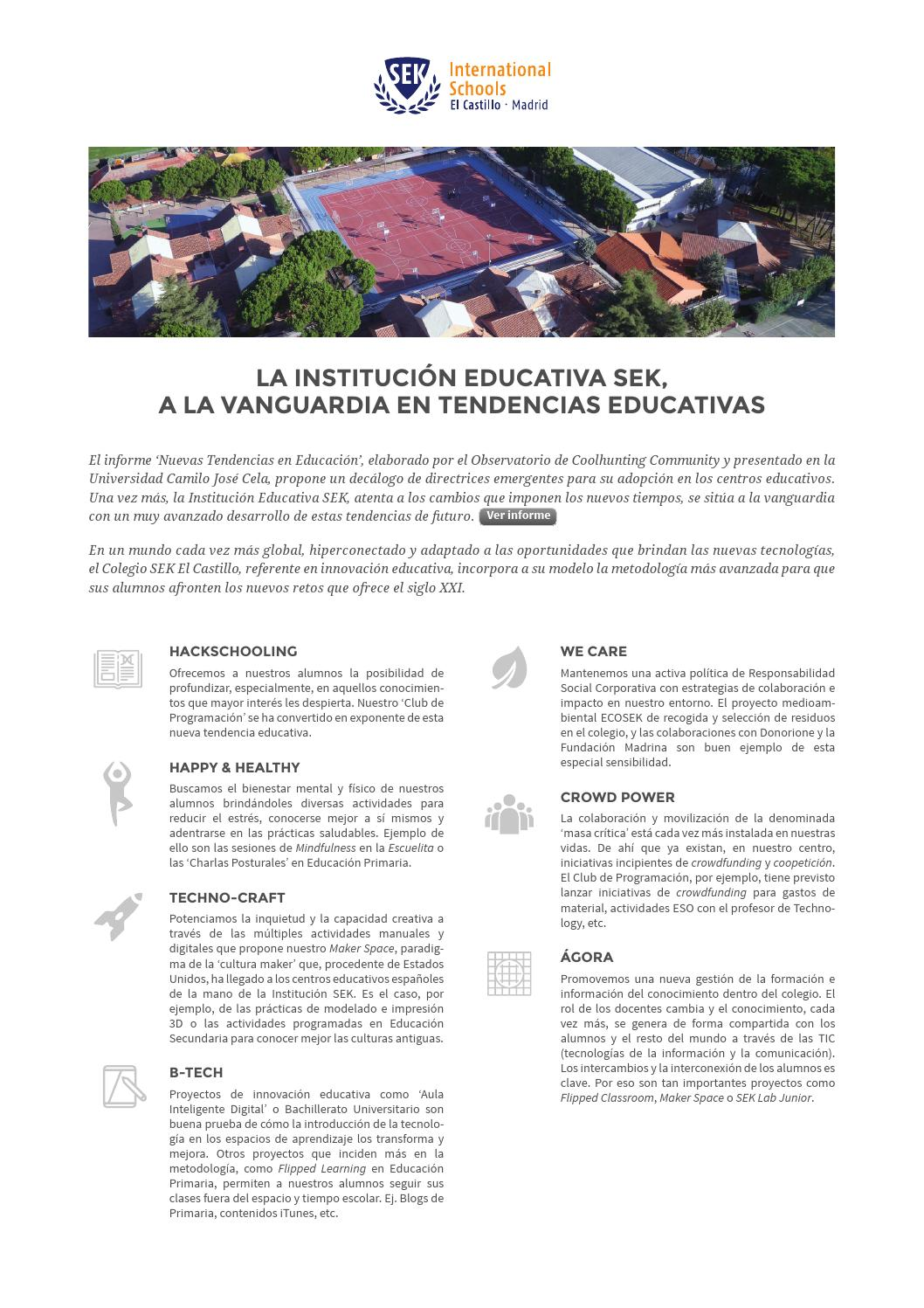 SEK El Castillo, a la vanguardia en innovación educativa by