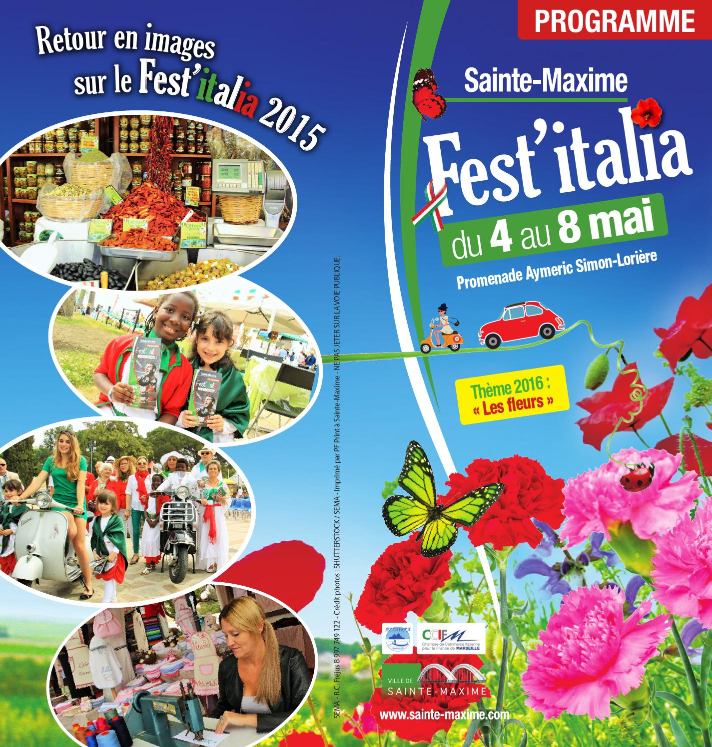 Programme fest 39 italia 2016 by office de tourisme de sainte maxime issuu - Office tourisme san remo italie ...